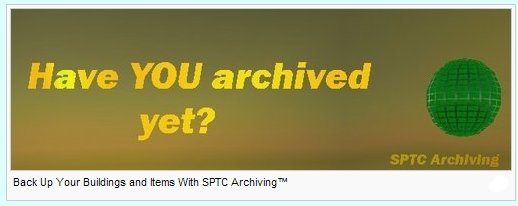 Back Up Your Buildings and Items With SPTC Archiving™